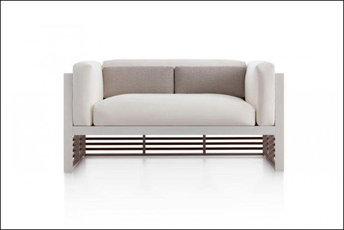 dna teak sofa white 1 1 700x468 - Sofa 2-Sitzer DNA Teakholz - Gandia Blasco
