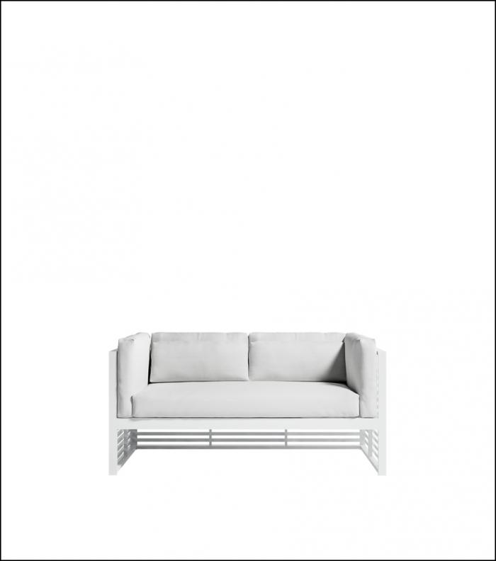 dna white 2 seat sofa product image 1 1 700x792 - Sofa 2-Sitzer DNA - Gandia Blasco