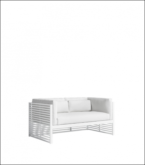 dna white 2 seat sofa product image 2 1 500x566 - Sofa 2-Sitzer DNA - Gandia Blasco