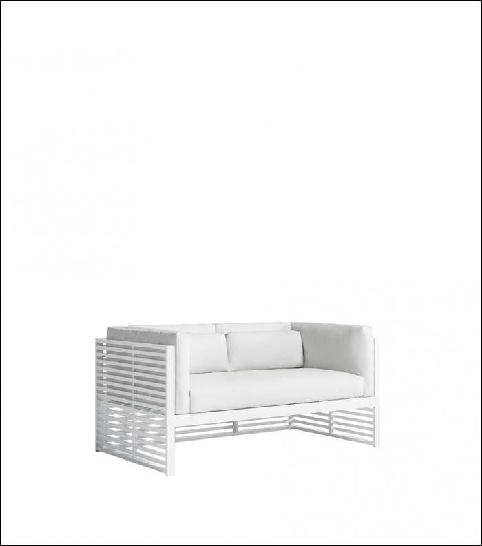 dna white 2 seat sofa product image 2 1 700x792 - Sofa 2-Sitzer DNA - Gandia Blasco