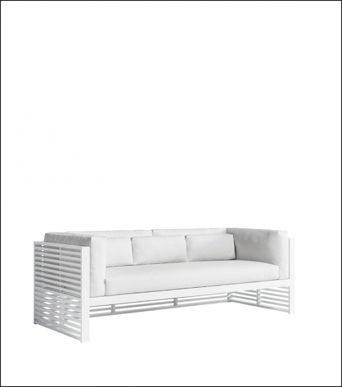 dna white 3 seat sofa product image 2 1 500x566 - Sofa 3-Sitzer DNA - Gandia Blasco