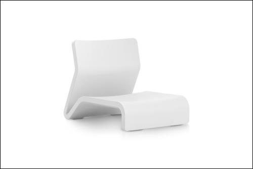 Clip armchair white 500x334 - Stuhl Clip - Diabla
