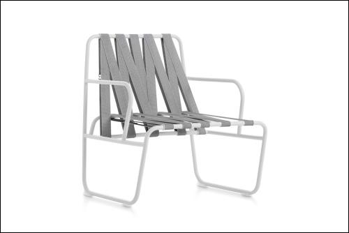 Dozequinze armchair white webbing white 500x334 - Stuhl Dozequinze - Diabla