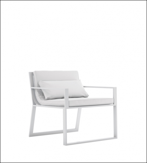 blau white armchair with arms product image 2 500x552 - Stuhl Blau - Gandia Blasco