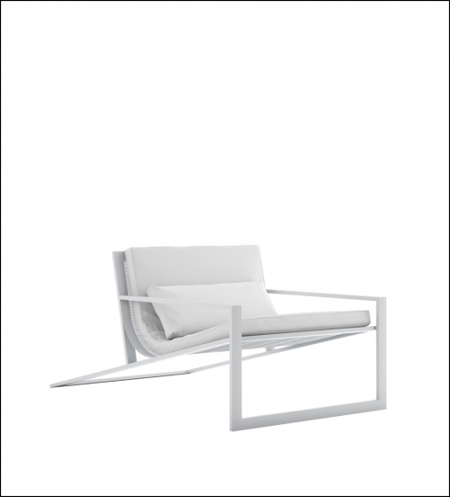 blau white singular lounge chair profile product image 1 500x552 - Stuhl Singular Blau - Gandia Blasco