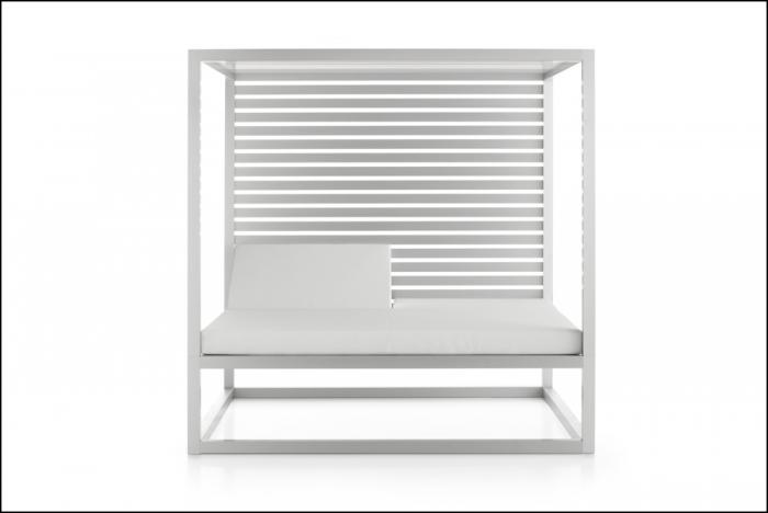 daybed fixed slats 1 sidewall anodized 1 700x468 - Tagesbett Lamellen - Gandia Blasco