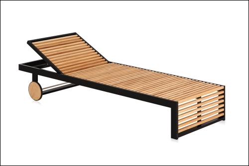 dna teak chaiselongue black 2 500x334 - Liege DNA Teakholz - Gandia Blasco