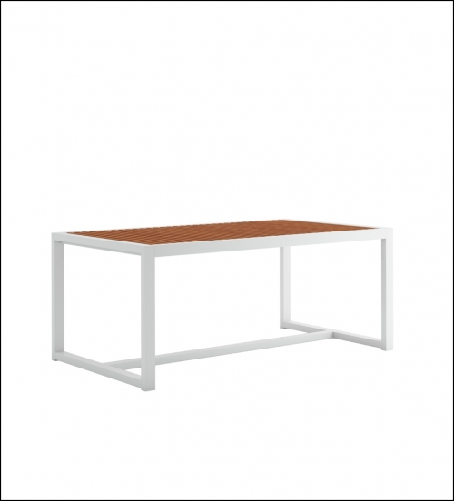 dna teak dining table 179 white 1 500x552 - Hoher Tisch DNA Teakholz - Gandia Blasco