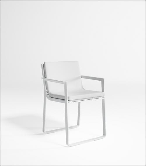 flat white chair product image 2 500x566 - Stuhl Flat - Gandia Blasco