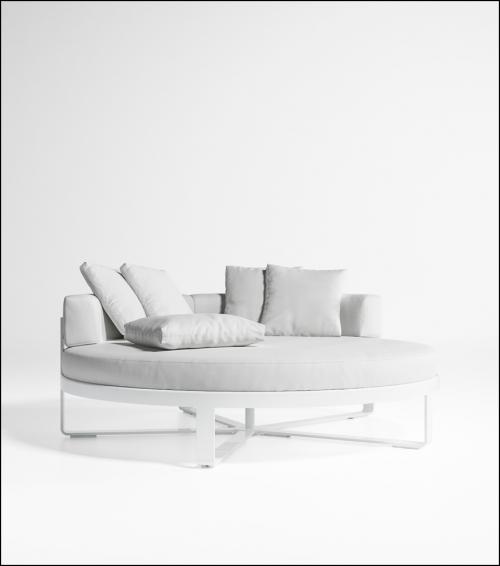 flat white circular bed chill product image 2 500x566 - Tagesbett Rund Flat - Gandia Blasco