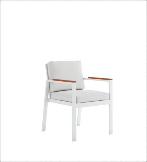 timeless dining armchair white 1 500x552 - Stuhl Timeless - Gandia Blasco